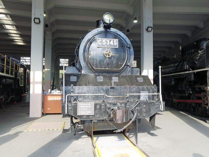 【京都鉄道博物館】展示車両(扇形車庫)《SL C53形45号機》