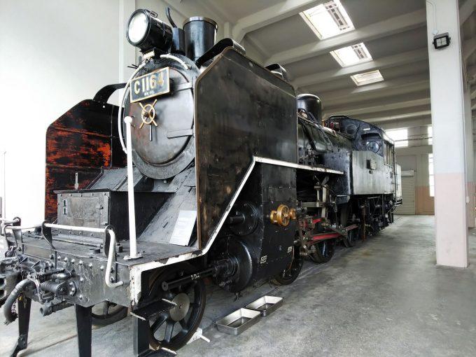 【京都鉄道博物館】展示車両(扇形車庫)《SL C11形64号機》