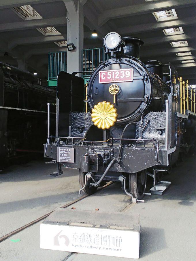 【京都鉄道博物館】展示車両(扇形車庫)《SL C51形239号機》