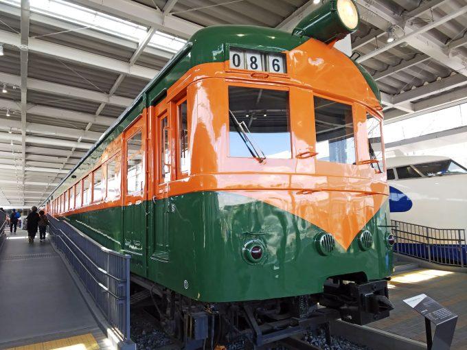 【京都鉄道博物館】展示車両(プロムナード)《クハ86形1号車》