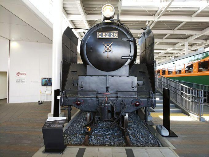 【京都鉄道博物館】展示車両(プロムナード)《SL C62形26号機》