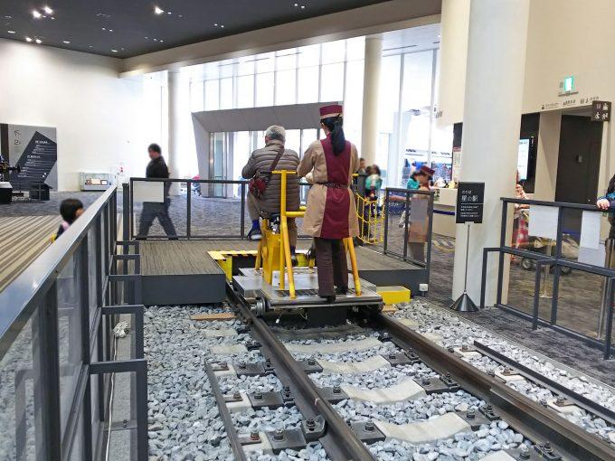 【京都鉄道博物館】本館1F《軌道自転車体験》